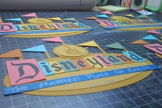 Retro Disneyland Paper Piecing