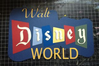 Retro Walt Disney World Paper Piecing
