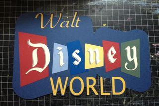 Retro Walt Disney World Paper Piecing